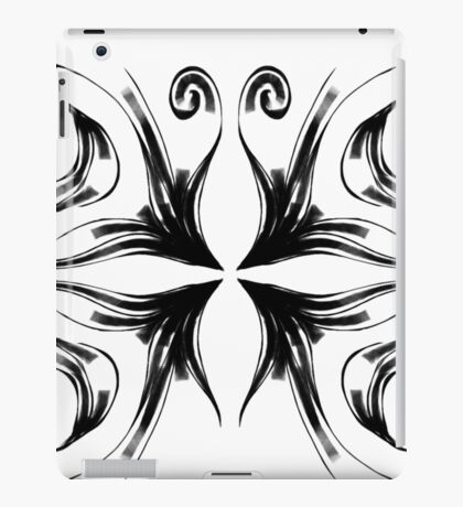 Butterfly Black and White iPad Case/Skin