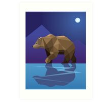 Low Poly Bear Art Print