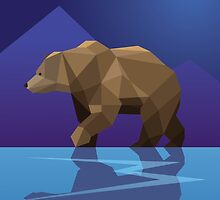 Low Poly Bear by calfrills