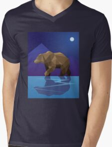 Low Poly Bear Mens V-Neck T-Shirt