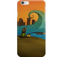 The Sea (from 'The Girl with The Yellow Bag') iPhone Case/Skin