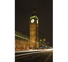 London and Big Ben by Night Photographic Print