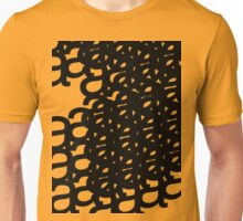 typographical patterns of a Unisex T-Shirt