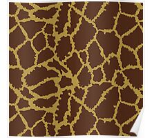 Brown Leopard Texture Poster