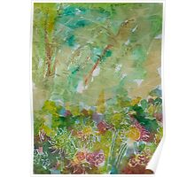 Garden Abstract One Poster