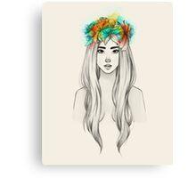 Flower Queen Canvas Print