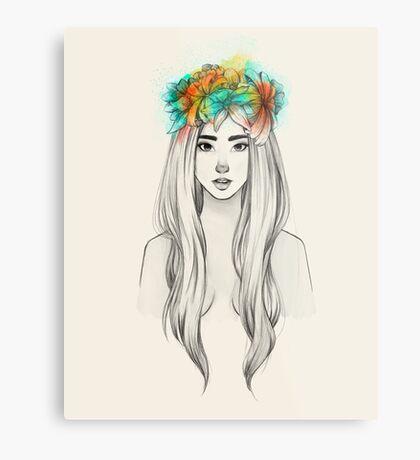 Flower Queen Metal Print