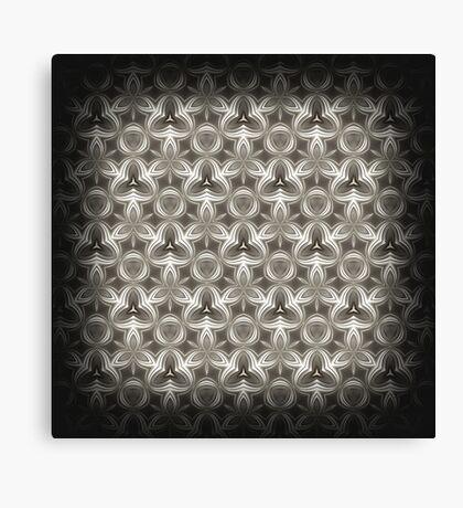 Abstract Grey Metallic Pattern Canvas Print