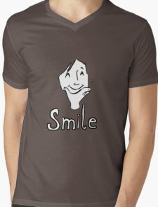 Smile Mens V-Neck T-Shirt