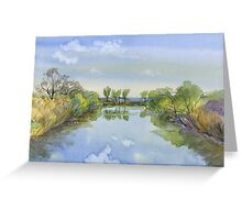 Reflection. Greeting Card