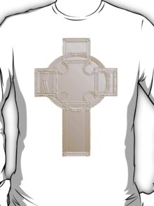 Celtic Cross, Silvery T-Shirt