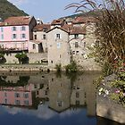 Reflections in the River Aveyron by Gabrielle Battersby