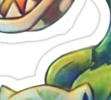 piranha plant - bulbasaur Sticker