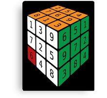 """Frustration:"" A Rubik's Cube and Sudoku Mix Canvas Print"