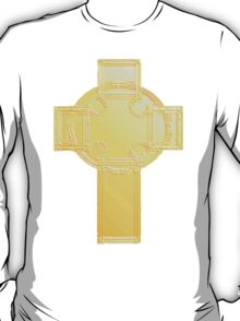 Celtic Cross, Golden T-Shirt