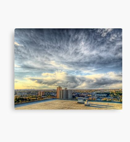 Edmonton From the Roof Canvas Print