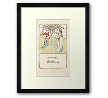 Mother Goose or the Old Nursery Rhymes by Kate Greenaway 1881 0047 Little Lad Where Wast Thou Born Framed Print
