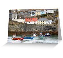 Mevagissy harbour Greeting Card
