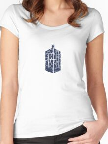 Doctor Who - Logo #2 Women's Fitted Scoop T-Shirt
