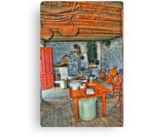 Summer Kitchen Canvas Print