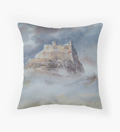 Lindisfarne Castle, Northumberland, England Throw Pillow