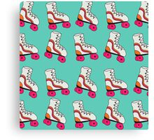 Turquoise Roller Blade Canvas Print