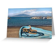 Harbour views towards Vesuvious Greeting Card