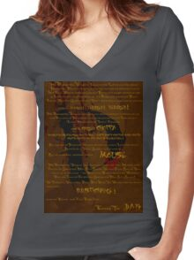 The Tragedy of Mr Dandigdival Vergler (Bronze) Women's Fitted V-Neck T-Shirt