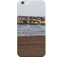 Town and Surfer - Portstewart Strand iPhone Case/Skin