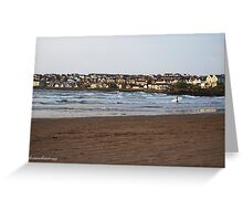 Town and Surfer - Portstewart Strand Greeting Card