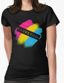Pansexual Stripes Womens Fitted T-Shirt