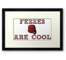 Doctor Who - Fezzes are cool #1 Framed Print