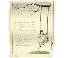 The Glad Year Round for Boys and Girls by Almira George Plympton and Kate Greenaway 1882 0027 Baby Boy and Sister Kate Swing Poster