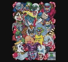 Evil Clowns All Over T-Shirt by bear77