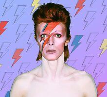 David Bowie / Aladdin Sane  by ColourFieldCuts