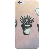 Black & White Succulent- Violet/Orange Gradient iPhone Case/Skin