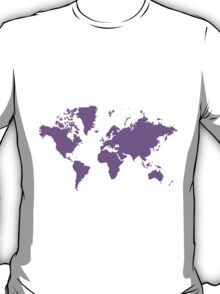 World With No Borders - purple T-Shirt