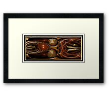 ©DA FS Orange Wave FX2D V5. Framed Print