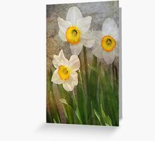 Time Worn Floral Greeting Card