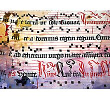 Choral Book Middle Ages - Music Vintage Art Prints Grunge Texture Photographic Print