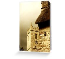 church and thatch greeting card Greeting Card