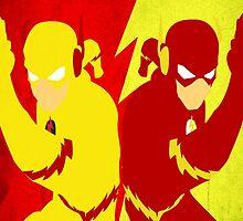 Reverse Flash VS Flash Minimalist by TheMinimalist