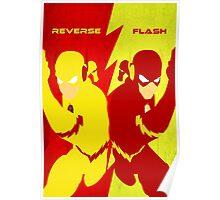 Reverse Flash VS Flash Minimalist Poster