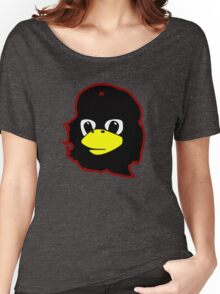 Linux tux Penguin Che guevara guerilla Women's Relaxed Fit T-Shirt