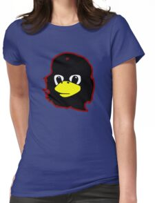 Linux tux Penguin Che guevara guerilla Womens Fitted T-Shirt