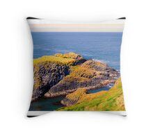 Spectacular glimpse of Carrick Island Throw Pillow