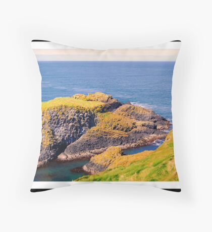 Spectacular glimpse of Carrick Island Throw Pillow