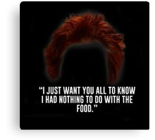 Red didn't have anything to do with the food. Canvas Print