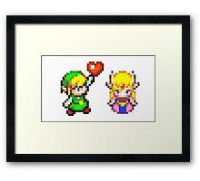 Zelda & Link Framed Print