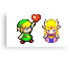 Zelda & Link Canvas Print